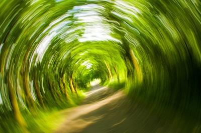 Image floue représentant la sensation vécue lorsqu'on ressent des vertiges et étourdissements